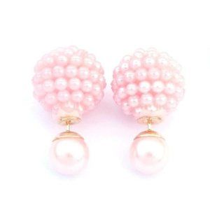 Pink Round Ball Earrings NWT
